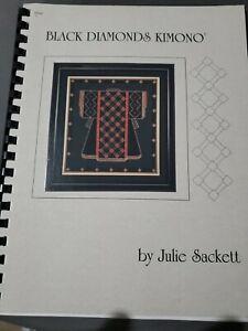 BLACK DIAMONDS KIMONO - by Julie Sackett - charted needlepoint book very good