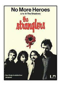 The Stranglers Poster Print - No More Heroes Advert - Punk Rock. Punk 1977.
