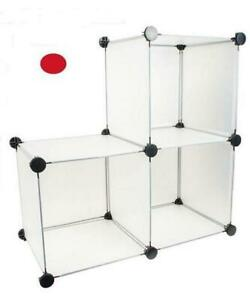 """NEW Home Essentials 3 Pack of 12"""" x 12"""" x 12"""" Storage Cube Red"""