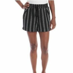 NWT! Briggs Ladies' Linen Blend Shorts - Black | H3