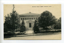 Town of Franklin MA Mass Public Library, front view, 1940's?