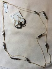 ~NWT~$78~KENNETH COLE~DELICATE NECKLACE & EARRINGS SET WITH MINI BLINGY BEADS ~