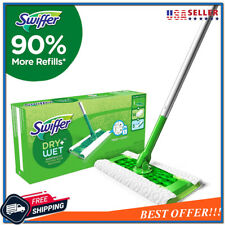 Swiffer Sweeper Cleaner Dry and Wet Mop Starter Kit for Cleaning Hardwood Floors