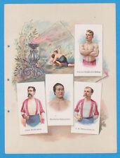 1887 A16 Allen & Ginter World's Champions ser 1 album page Wrestling w/ SORAKICH