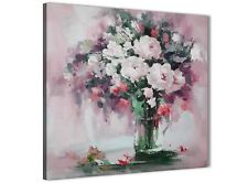 Blush Pink Flowers Painting Abstract Dining Room Canvas Decor 1s441l - 79cm