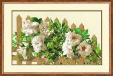 RIOLIS 1059 Rosas Blancas Bordado Contado