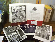 "NSYNC ""No String Attached"" PRESS KIT, INSERTS & PHOTO"