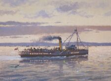 Medway Queen Paddle Steamer Ship Fathers Day Birthday Card