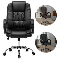 Computer Desk Office Gaming Chair Ergonomic Executive Swivel Leather High-Back