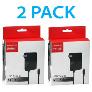 2For Nintendo Switch AC Power Supply Adapter Home Wall Travel Charger Cable 2.4A