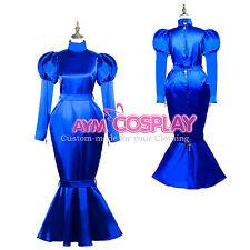 lockable gothic bind Satin Dress hobble Skirt CD/TV 5 Locks Tailor-Made [G3722]