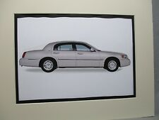 1999 Lincoln Town Car Cartier  artist art Auto Museum Full color  Illustrated