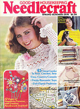 SHIPPED IN A BOX -  Good Housekeeping Needlecraft Magazine Spring - Summer 1978