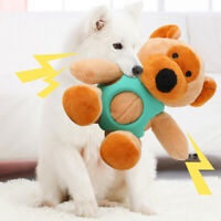 Pet Dog Cat Resistant Toy Puppy Chew Plush+Rubber Rabbit/Bear Bite Sound Toys