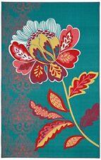 Mohawk Home Soho Amaranda Floral Printed Area Rug, 5'x8', Teal Blue