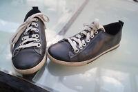 TAMARIS active Damen Schuhe Schnürschuhe Sneaker bequem Gr.39 schwarz Leder #6k