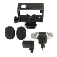 Side Open Skeleton Housing Case + Microphone + Adapter Kit for GoPro Hero 4 3+ 3