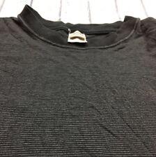 90s VTG ARIZONA Jeans STRIPED VAPORWAVE GRUNGE SKATE T Shirt L Gray Black Blank