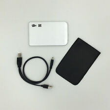 """New 320GB External Portable 2.5"""" USB Hard Drive With Warranty Free Pouch Silver"""