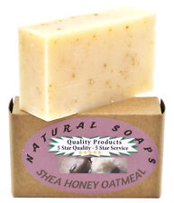 100% Natural & Organic. Handmade Shea Honey Oatmeal Soap, Unscented. 4.3oz Bar
