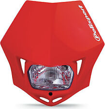 Dot Approved Polisport Mmx Universal Red Headlight 75-866-35r4 Honda Xr200r Etc
