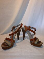 Marc Jacobs Ladies Tan Strappy Sandals Uk 6 Eur 39 Ref Ju