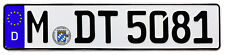 BMW Munich Front German License Plate by Z Plates wtih Unique Number NEW