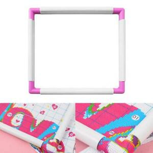 Needlepoint Cross Stitch Hoop Stand Lap for Embroidery Quilting 6 Square Plastic Sewing Hoop Tools Handhold Cross Stitch DIY Craft Sewing Tools Embroidery Clip Frame Silk-Painting