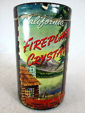 Vintage 1950s California Fireplace Crystals 1/2 full can fire pit crushed glass