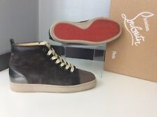 Christian Louboutin Brown Suede Leather Hi Top Boots Size 39 Uk 5 Immaculate