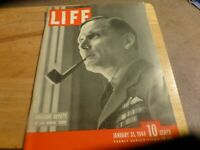 LIFE Magazine - JANUARY 31 1944 - INVASION DEPUTY AIR Chief Tender - Vintage Ads