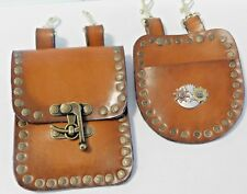 Steampunk Leather Hanging Bag Set for Pocket Watch & Small Cell Phone