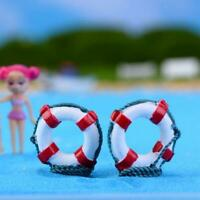 2Pcs Miniature Dollhouse DIY Craft Fairy Garden Life Woodeen buoy Wall Decor