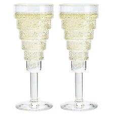 Set of 2 Durobor 140ml Modern Champagne Flutes Prosecco Sparkling Wine Glasses
