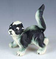 Vintage Miniature Bone China Skunk Figurine Matte Finish Made In Japan