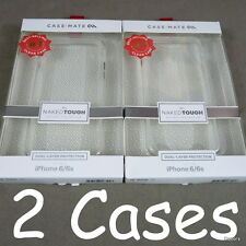 Lot of (2) CaseMate Naked Tough Clear Cases For iPhone 6/6S Translucent NEW