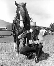 RARE STILL JOHN WAYNE OFF CAMERA WITH CUP OF COFFEE