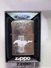 "Zippo  ""FORD MUSTANG"" - Chrom gebürstet - NEU & ovp - 805"