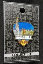 Hard Rock Cafe Pin Brussels - Core Greetings From Guitar Pick - (#96467) - 2017