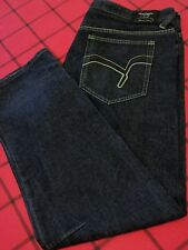 INDIGO RED DENIM CO. MENS W 44 X 35 L PREMIUM QUALITY WEAR SIDE HEM SPLIT JEANS