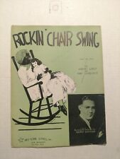 Vintage Rockin' Chair Swing Sheet Music Black Americana 1937