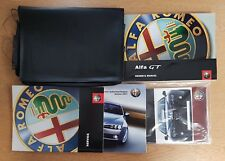 GENUINE ALFA ROMEO GT HANDBOOK OWNERS MANUAL WALLET 2003-2010 PACK E-360