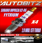 FOR SUBARU IMPREZA 2.0 TURBO WRX STI 2002-2006 BRISK SPARK PLUG X4 FAST DISPATCH