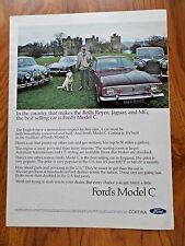 1968  Ford Cortina Ad Rolls Royce Jaguar MG