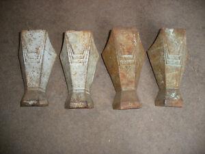 Set of original art deco cast iron bath feet