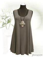 PoCo DeSiGn LAGENLOOK Top Tunika Long-Shirt Zwischenteil grau L-XL-XXL-XXXL