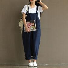 Womens Dungarees Jumpsuit Romper Playsuit Short Long Harem Trousers Pants Jeans