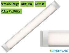 LED BATTEN SLIMLINE TUBE LIGHT WALL OR CEILING MOUNT 4ft 1200 mm 36 WATT 6000K