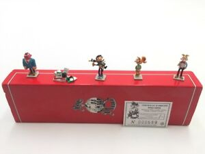 Figurine gaston lagaffe mini Pixi  5 figurines boite Certificat