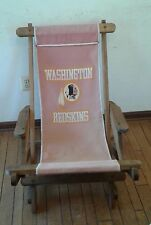 Vintage Washingston Redskins Wood folding slider-rocking chair Tailgate skins